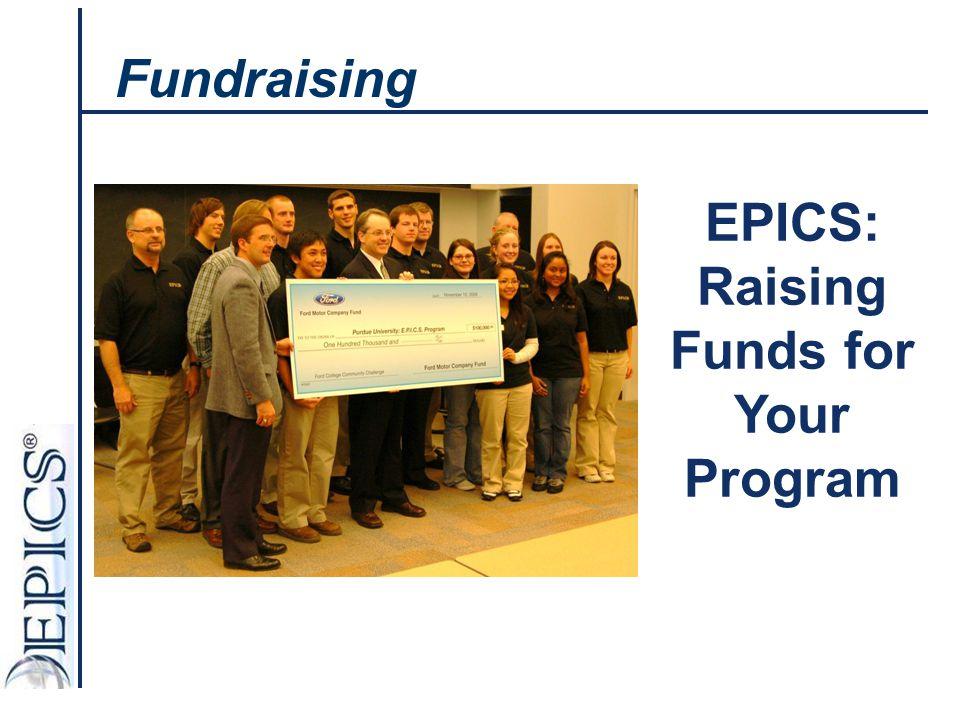 EPICS: Raising Funds for Your Program Fundraising