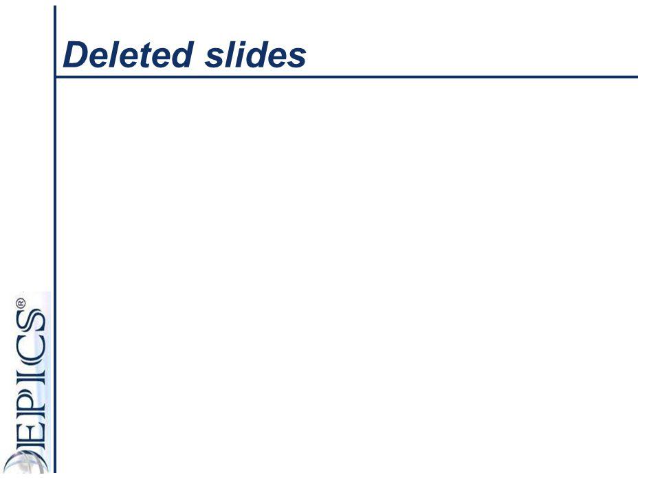 Deleted slides