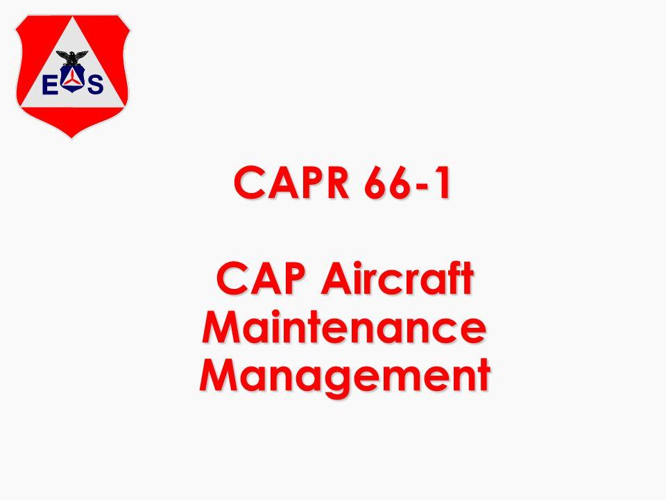 CAPR 66-1 CAP Aircraft Maintenance Management