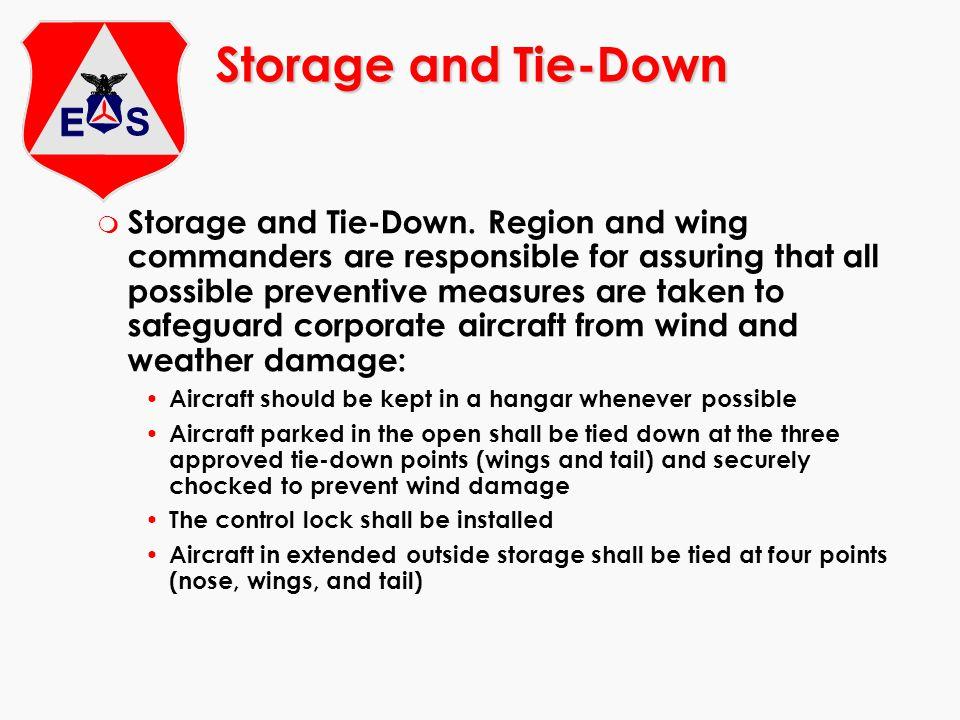 Storage and Tie-Down m Storage and Tie-Down.