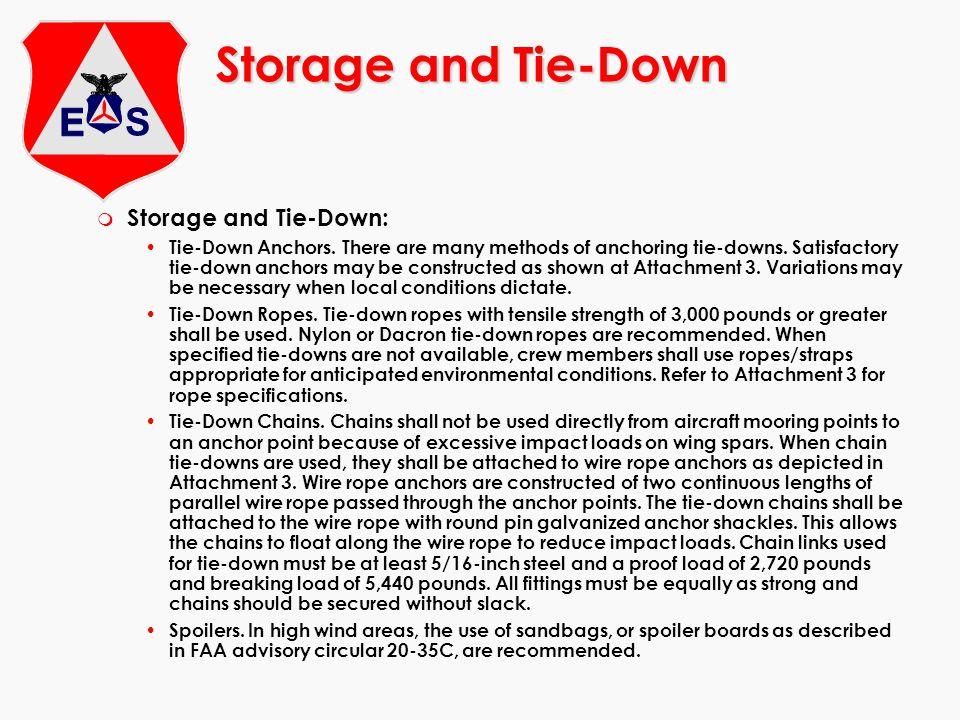 Storage and Tie-Down m Storage and Tie-Down: Tie-Down Anchors.