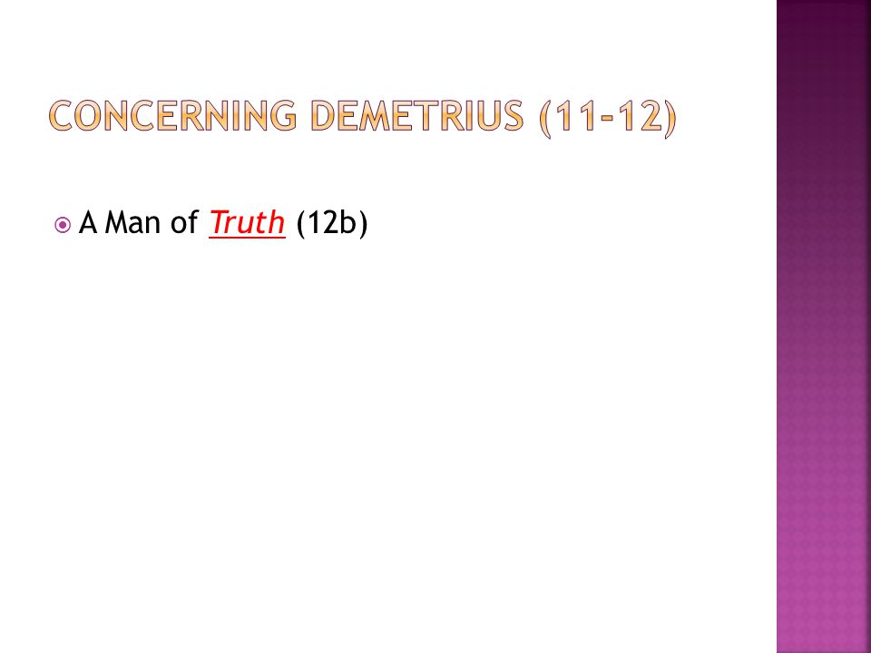  A Man of Truth (12b)