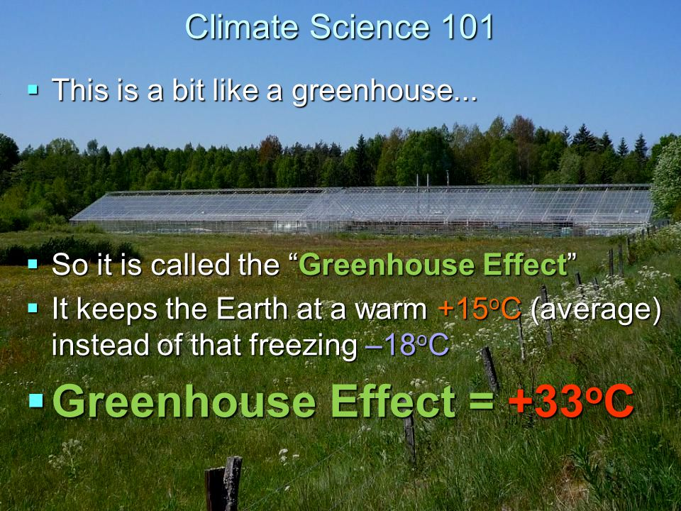 Climate Science 101  This is a bit like a greenhouse...