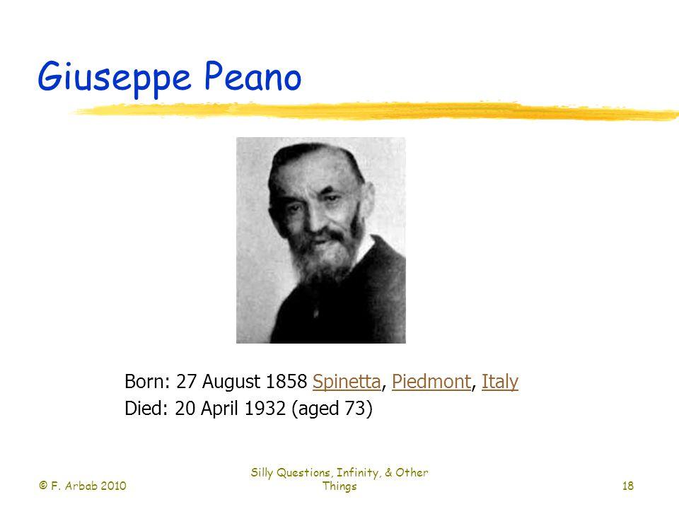 Giuseppe Peano © F.