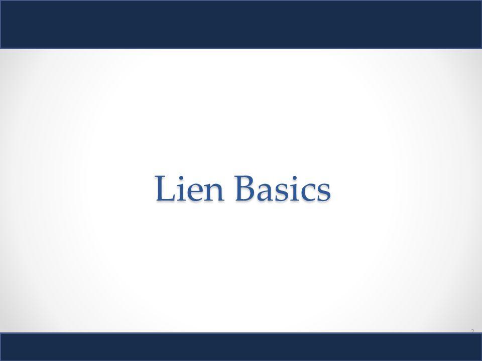 2 Lien Basics