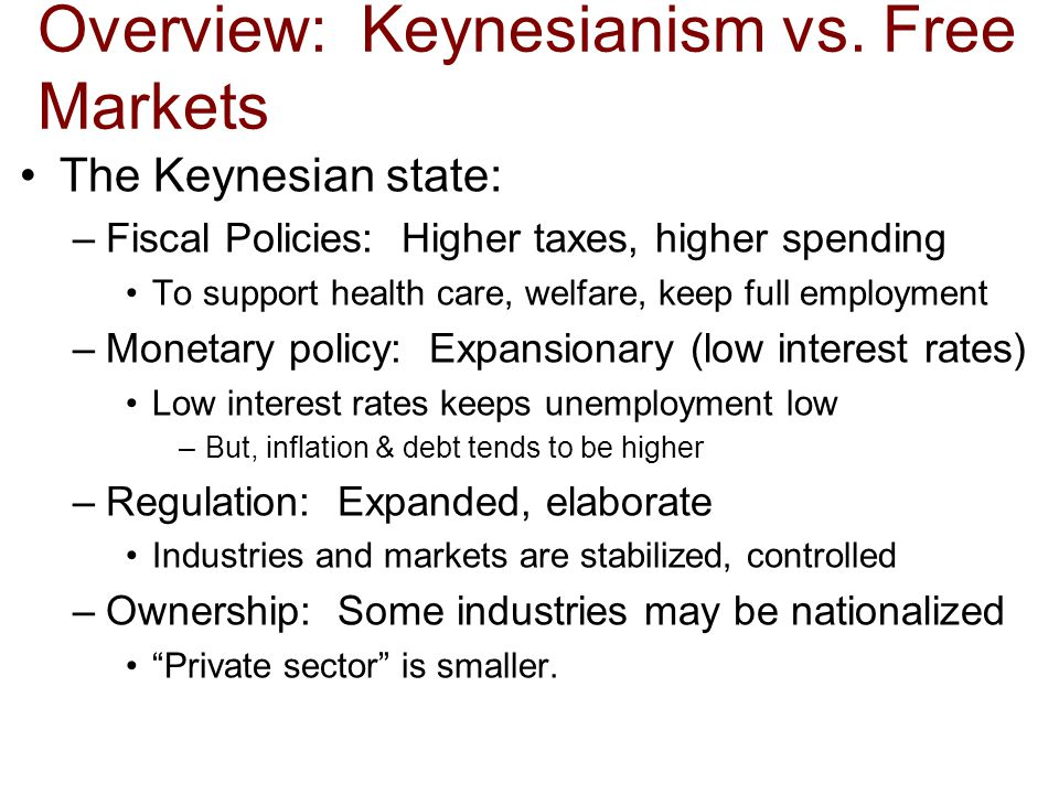 Overview: Keynesianism vs.