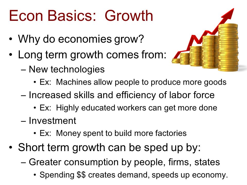 Econ Basics: Growth Why do economies grow.