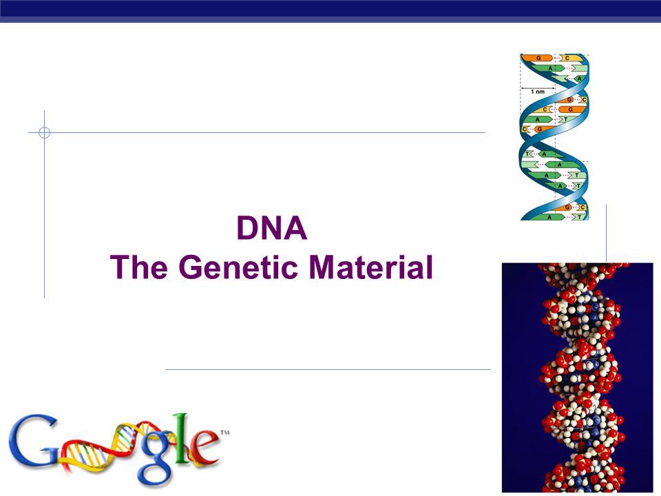 AP Biology 2006-2007 DNA The Genetic Material
