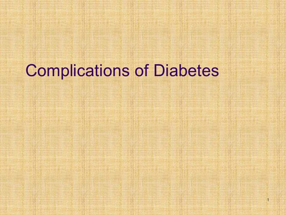 1 Complications of Diabetes