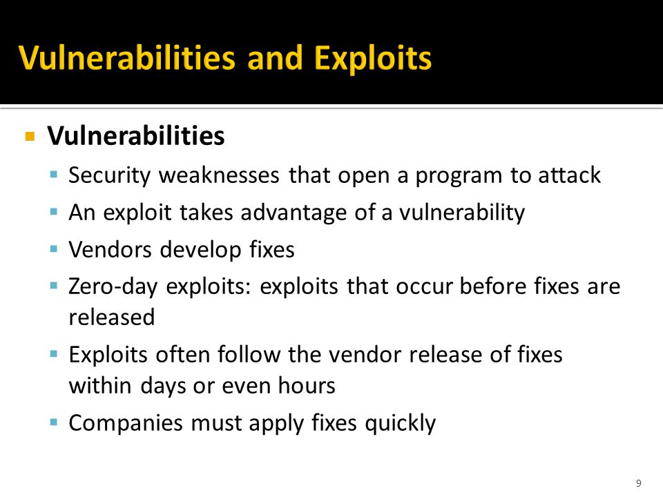  Example of response procedure (POLICIES)  Reset the system, investigate the cause ▪ Some attacks ▪ Restore the system should be sufficient ▪ Complicated attacks ▪ Blindly resetting a system may not lessen the problem ▪ Should analyze the attack methods ▪ Reset the environment to a state that led to the initial compromise !.
