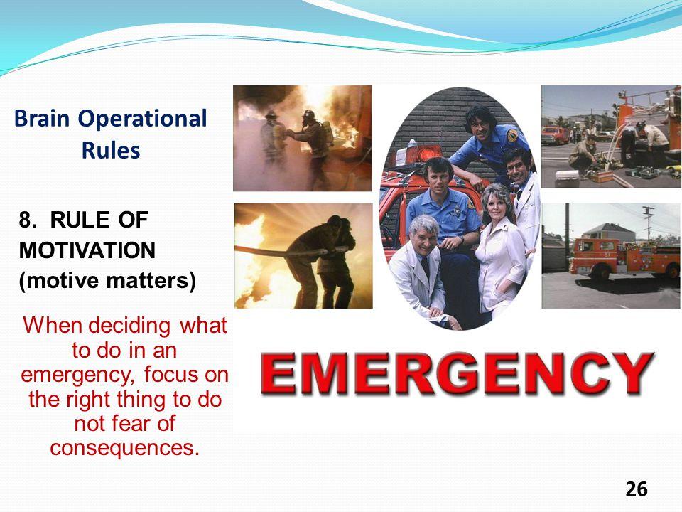 Brain Operational Rules 8.
