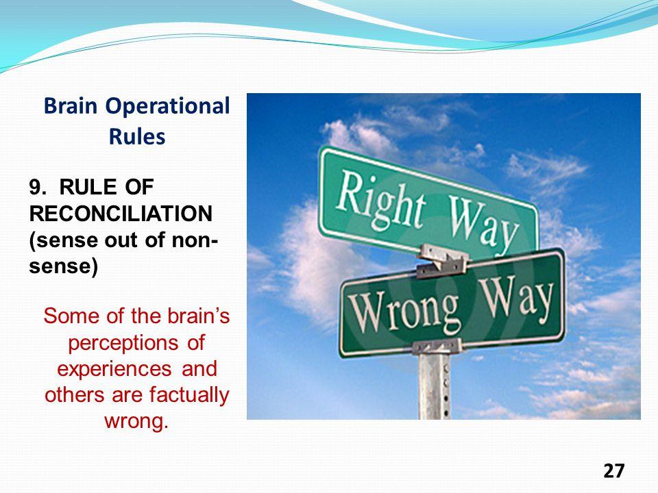 Brain Operational Rules 9.