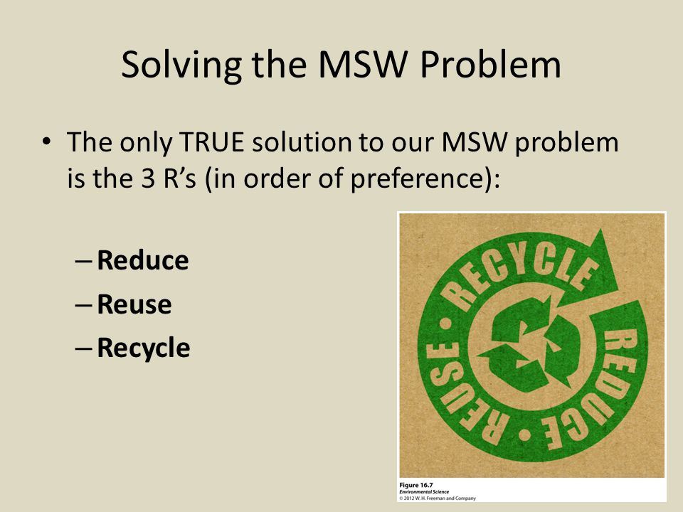 Source reduction – MOST EFFECTIVE!!.