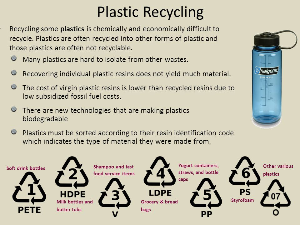 Characteristics of Recyclable Materials  *Easily isolated from other waste  *Available in large quantities  *Valuable – there is a market