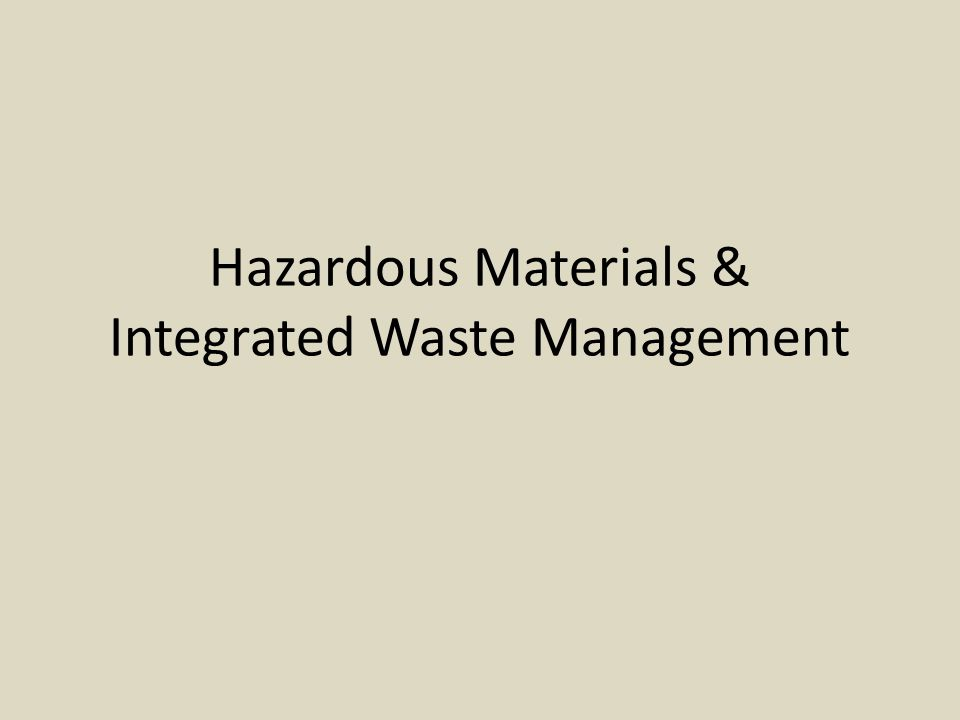 Hazardous waste: is any discarded solid or liquid material that is toxic, ignitable, corrosive, or reactive enough to explode or release toxic fumes.
