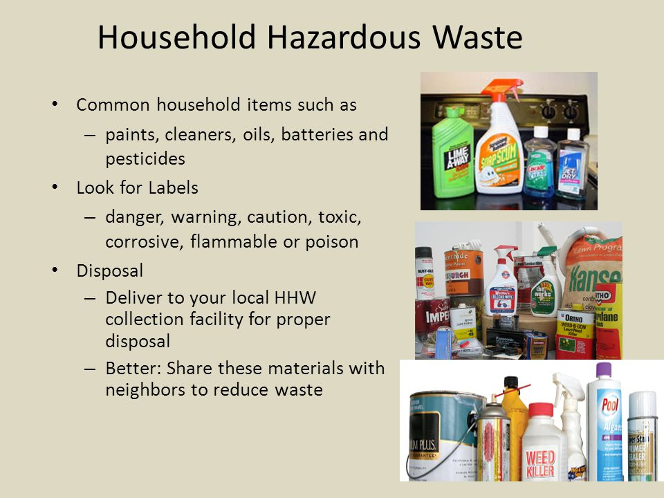 Hazardous Waste Regulations (US) Two major federal laws regulate the management and disposal of hazardous waste in the U.S.: – RCRA - Resource Conservation and Recovery Act Tracks waste progress Cradle-to-the-grave system to keep track of waste.