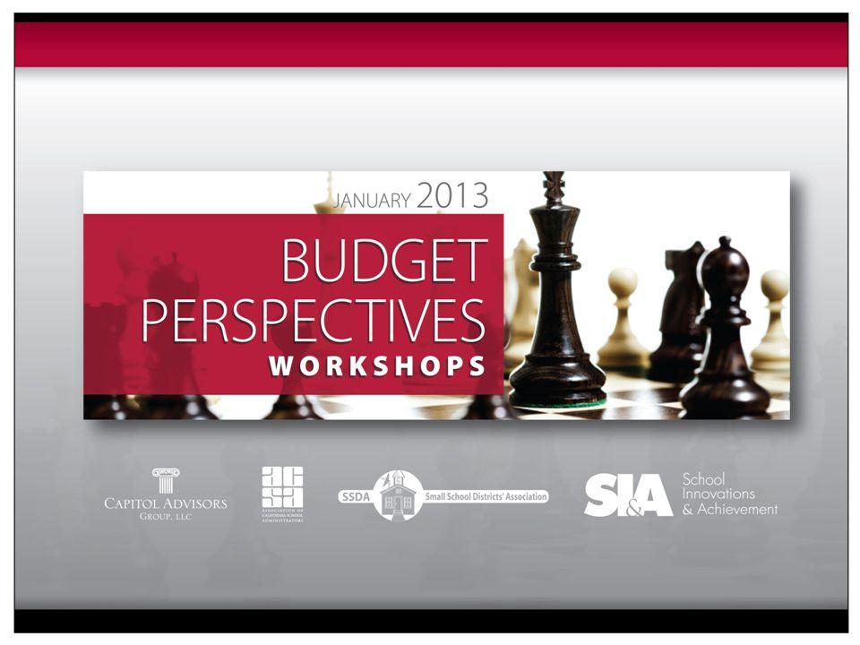 2013 Budget Perspectives Workshops 877.954.4357 www.sia-us.com