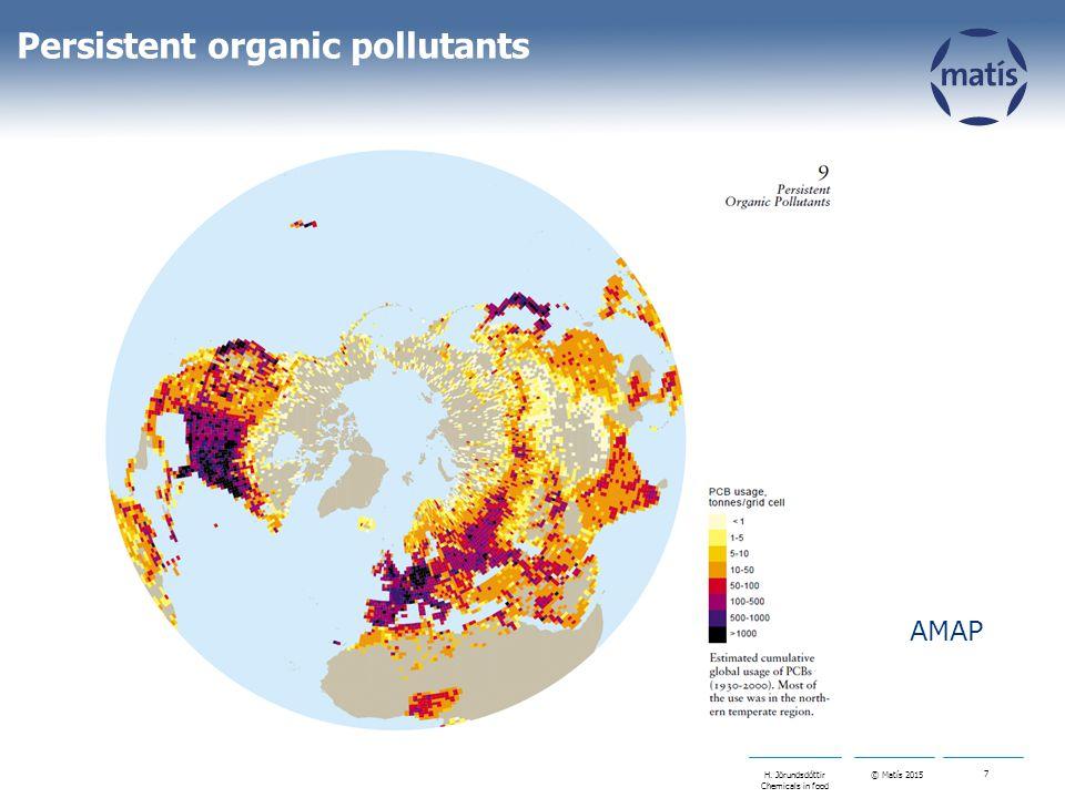 © Matís 2015 7 H. Jörundsdóttir Chemicals in food Persistent organic pollutants AMAP