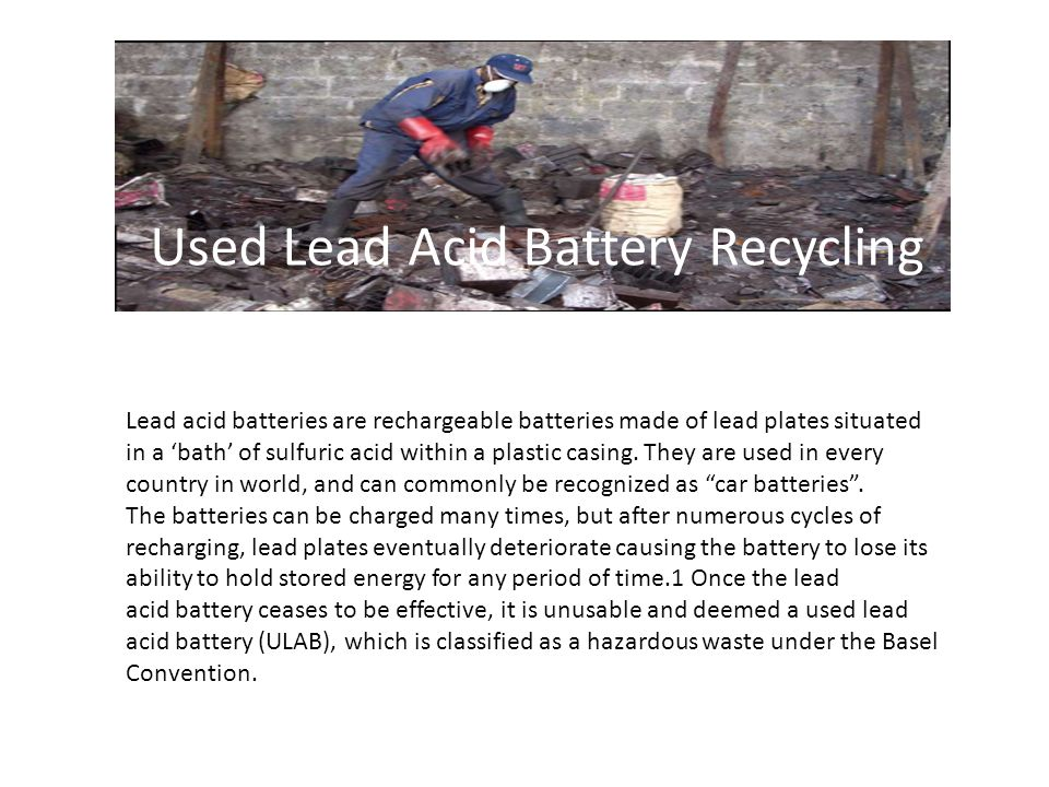 Lead acid batteries are rechargeable batteries made of lead plates situated in a 'bath' of sulfuric acid within a plastic casing.