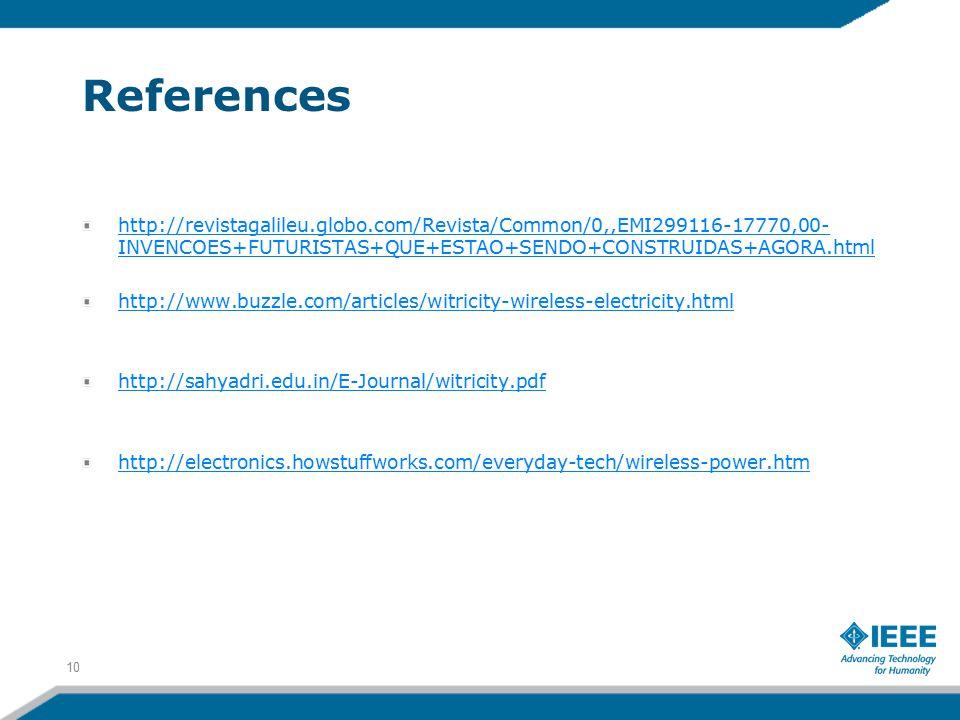 References http://revistagalileu.globo.com/Revista/Common/0,,EMI299116-17770,00- INVENCOES+FUTURISTAS+QUE+ESTAO+SENDO+CONSTRUIDAS+AGORA.html http://ww