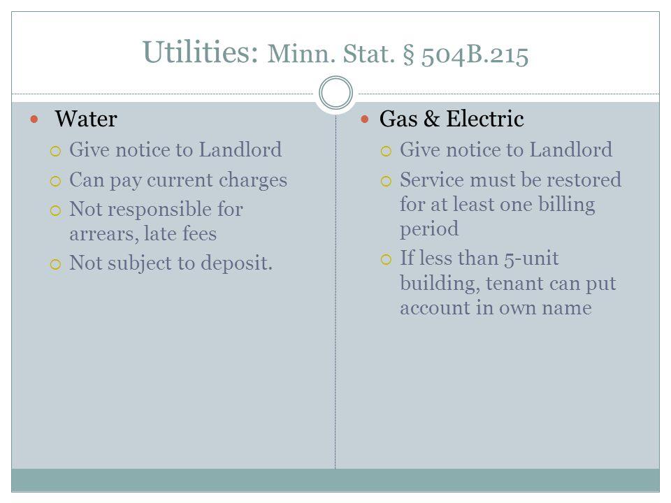 Utilities: Minn. Stat.