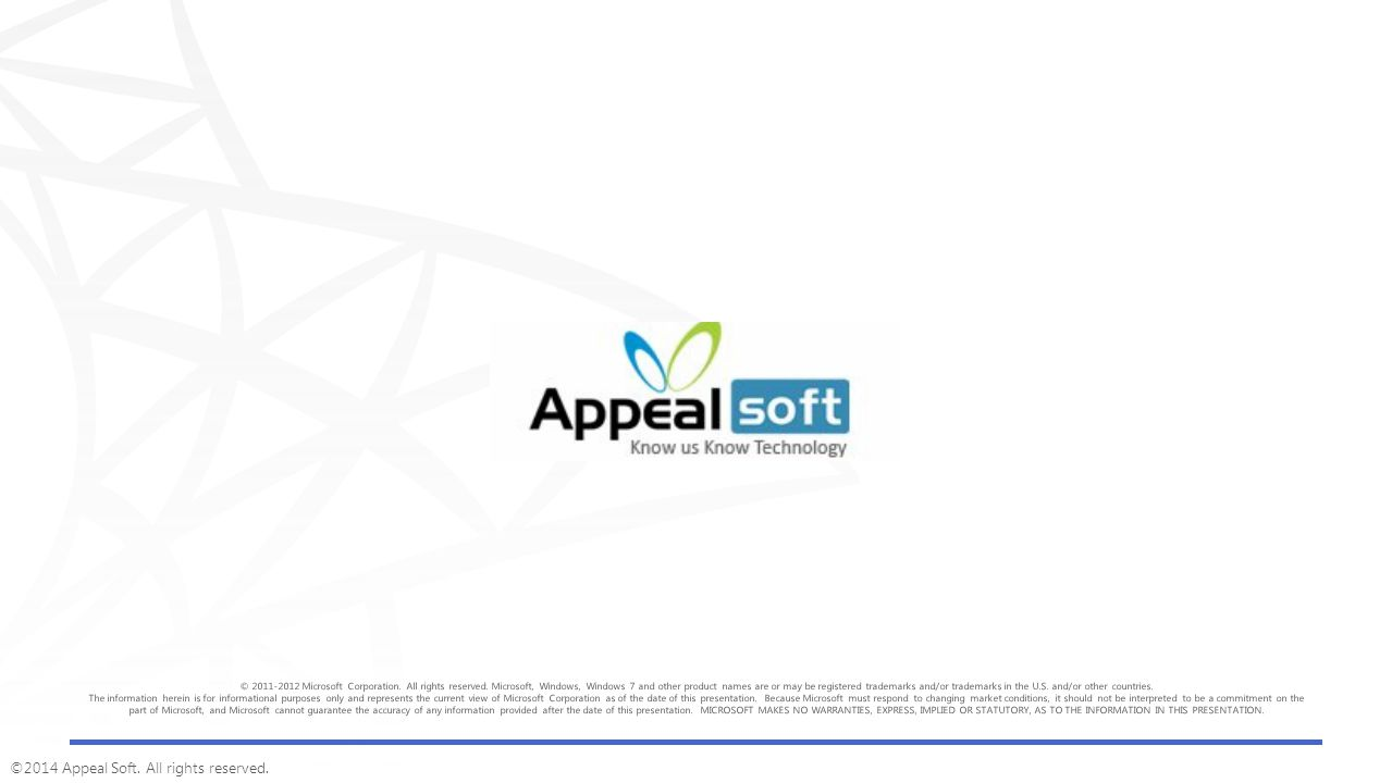 ©2014 Appeal Soft. All rights reserved.