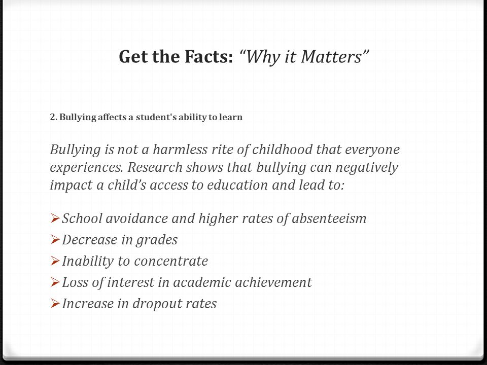 Get the Facts: Why it Matters 3.