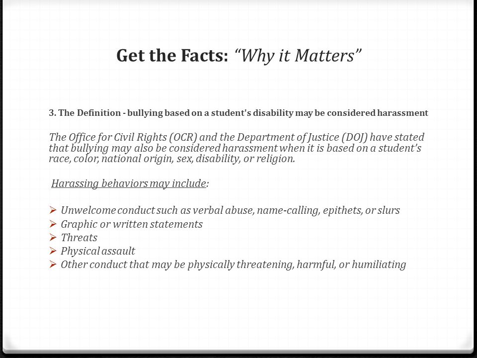 Get the Facts: Why it Matters 4.