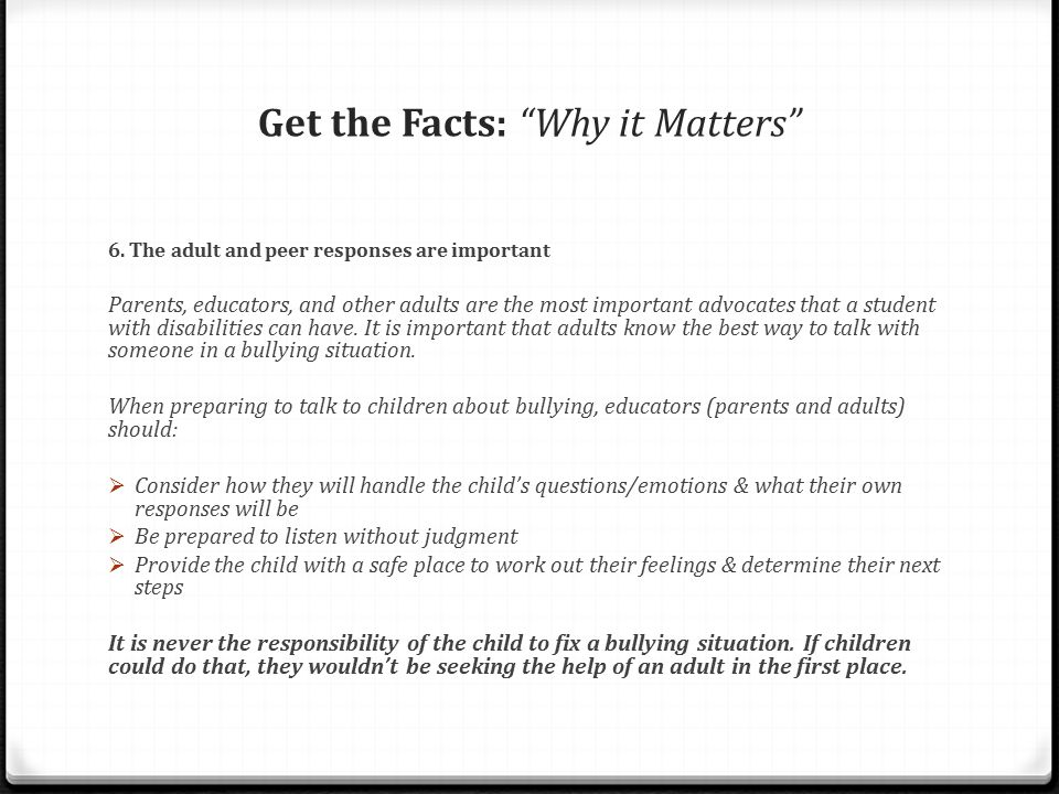 Get the Facts: Why it Matters 6.