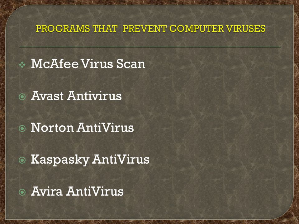  We have gone through the basic definitions of viruses and other destructive programs, advantages and disadvantages of computer virus, history of virus, infamous virus, type s e.t.c.