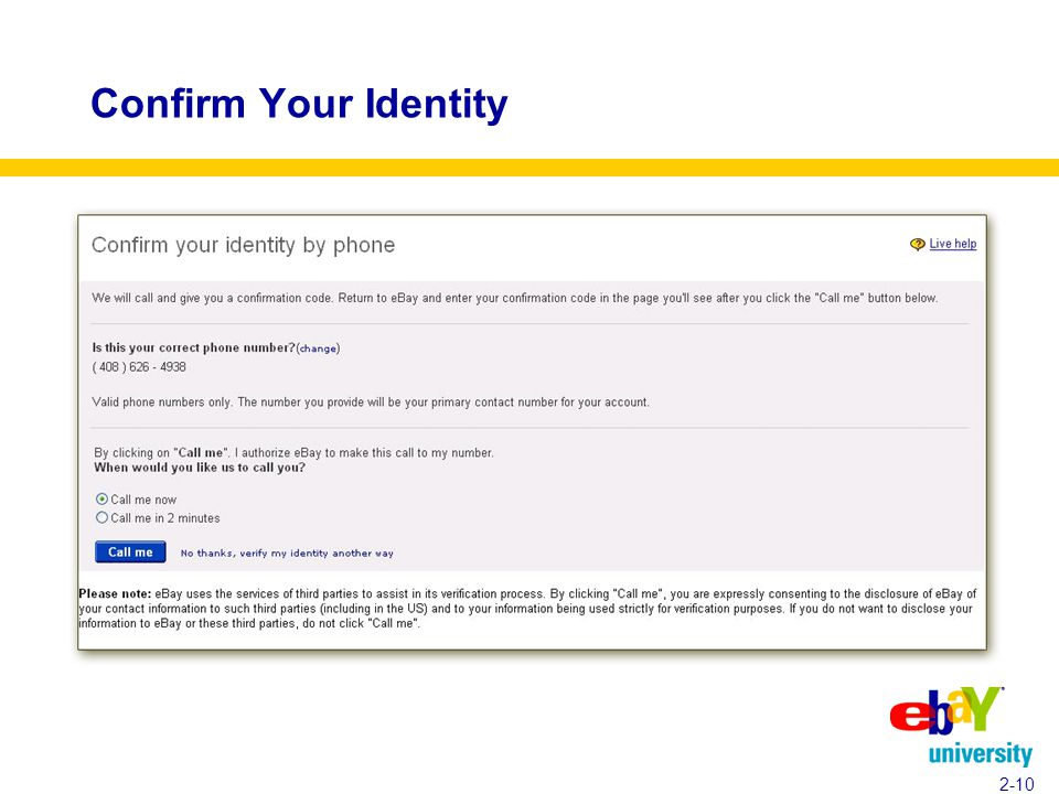 Confirm Your Identity 2-10