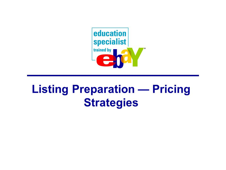 Listing Preparation — Pricing Strategies