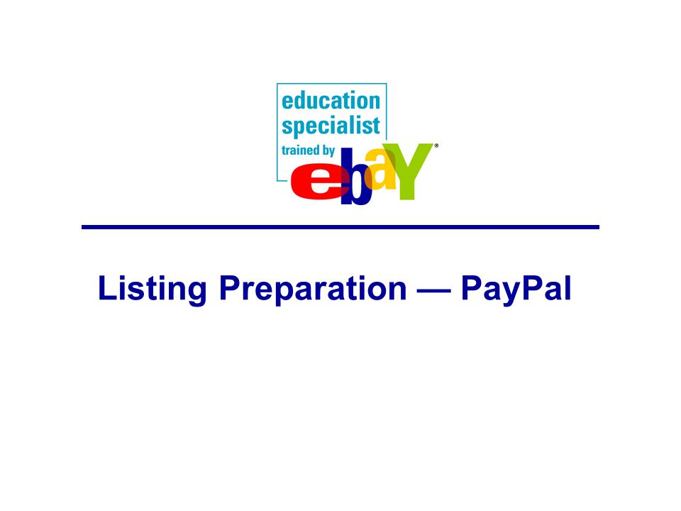 Listing Preparation — PayPal