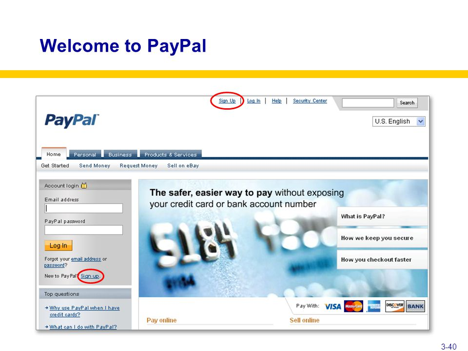 Welcome to PayPal 3-40