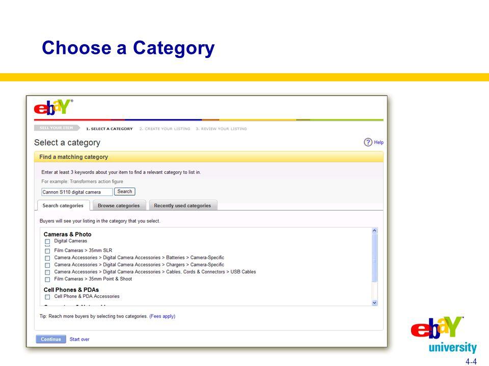 Choose a Category 4-4