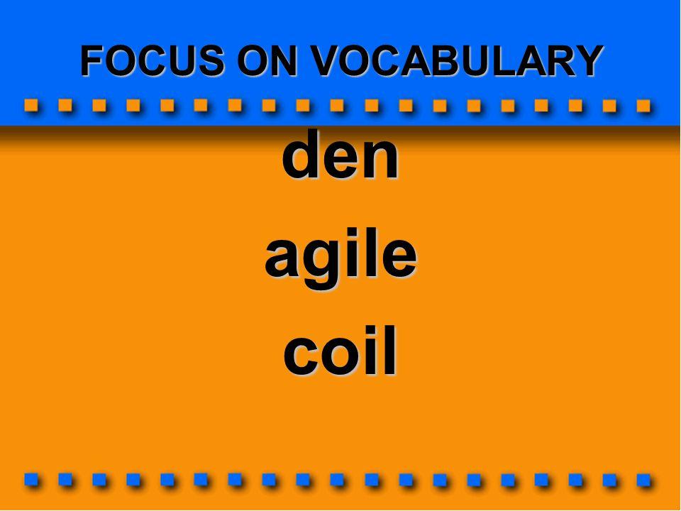 FOCUS ON VOCABULARY denagilecoil
