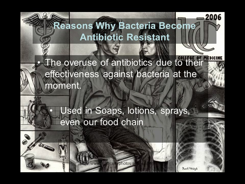 What went wrong, how is it that we are still faced with bacteria that we cannot eliminte.