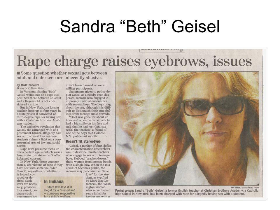 "Gender SeriesKaren A. Duncan 200617 Sandra ""Beth"" Geisel"