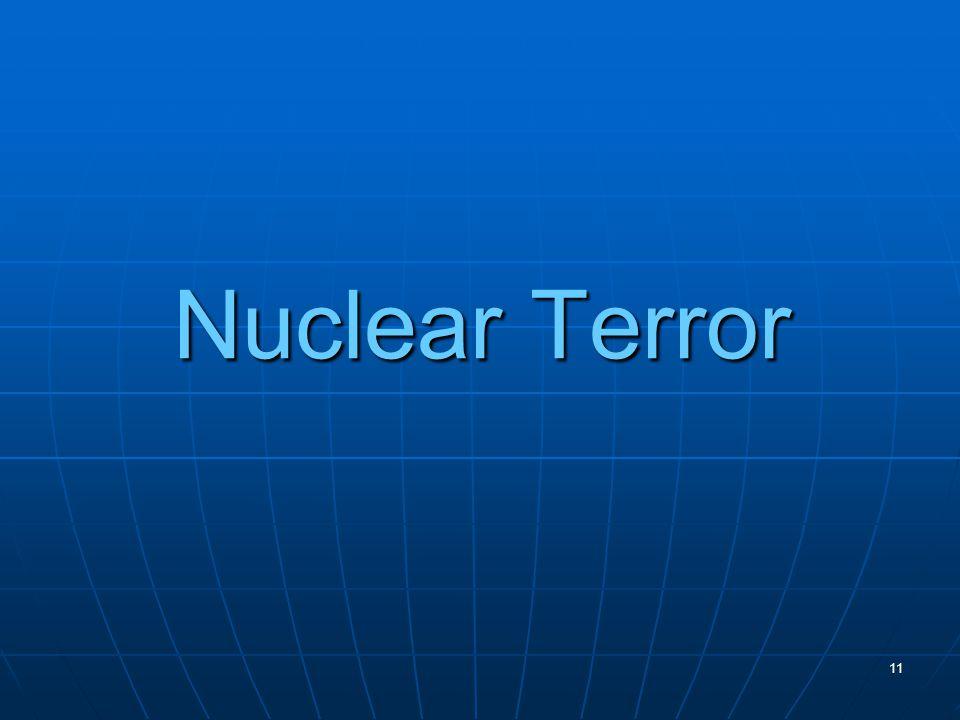 11 Nuclear Terror