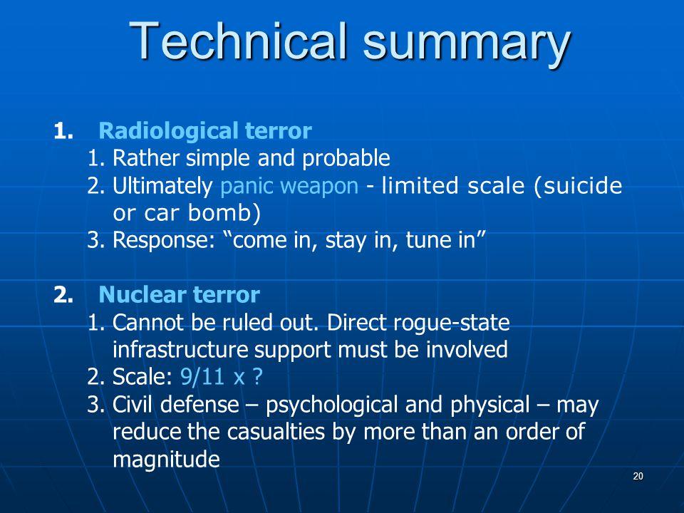 20 Technical summary 1.