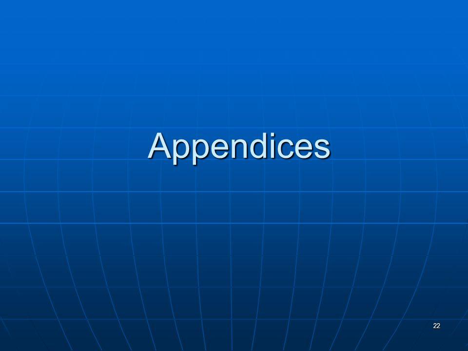 22 Appendices