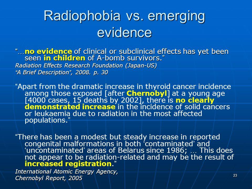 23 Radiophobia vs.