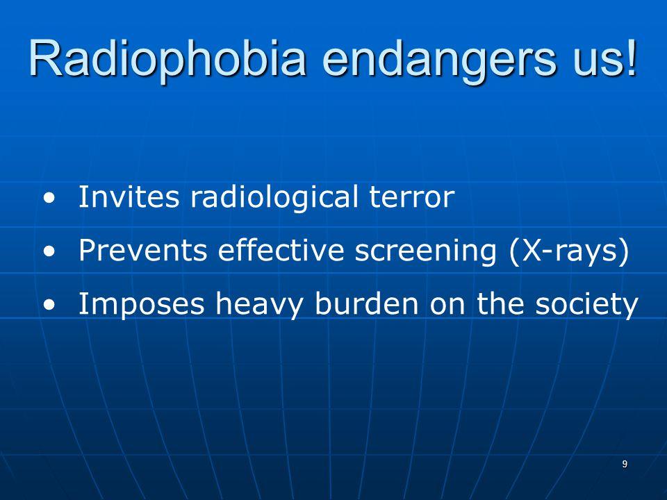 9 Radiophobia endangers us.