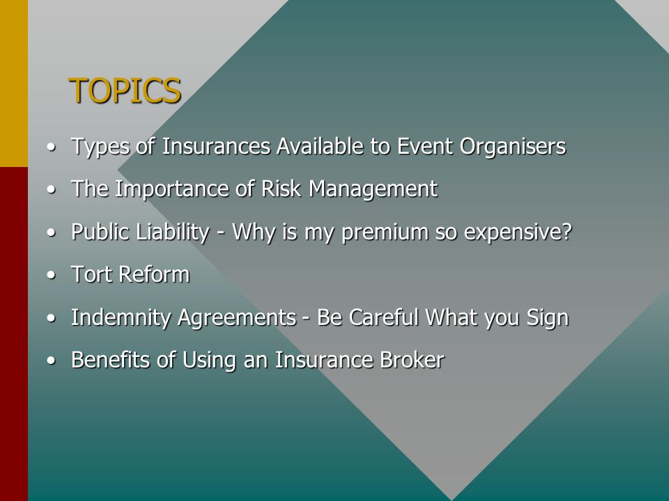 RISK MANAGEMENT RISK is the chance of something happening that will have an adverse effect on the organisation or individual.