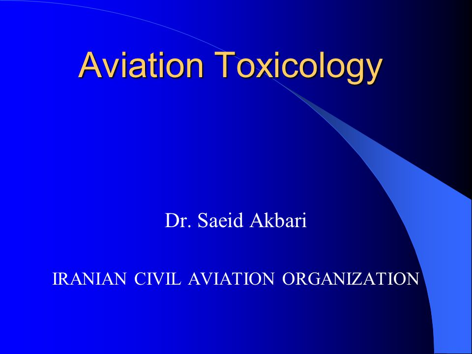 The pathological investigation of fatal aircraft accident victims relies on analytical toxicology to establish the nature and concentration of substances such as alcohol, drugs and products of combustion that may have impaired the aircrew and so contributed to the accident, or impaired the passengers in their attempts to escape the crashed aircraft.