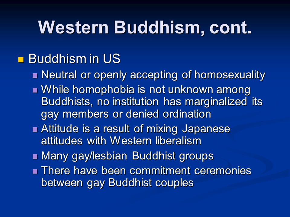 Western Buddhism, cont.