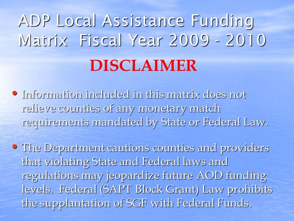 Local Assistance Flow Chart 7