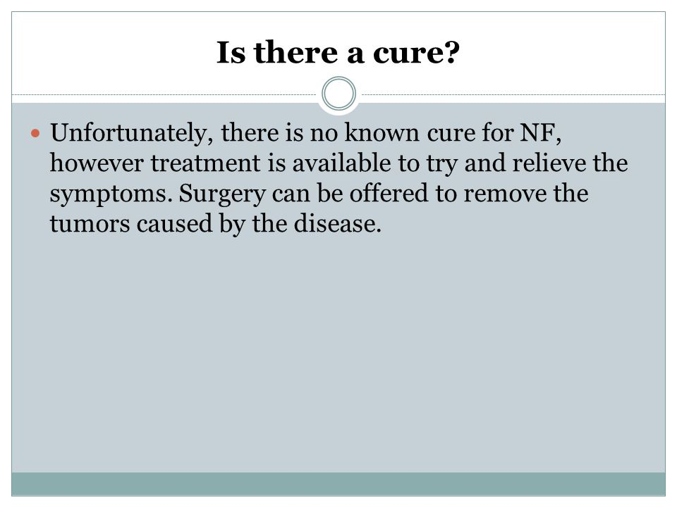 Is there a cure.