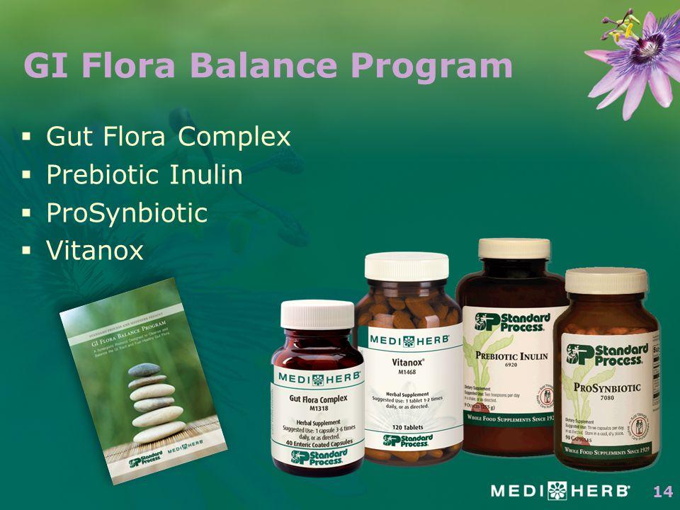  Gut Flora Complex  Prebiotic Inulin  ProSynbiotic  Vitanox GI Flora Balance Program 14