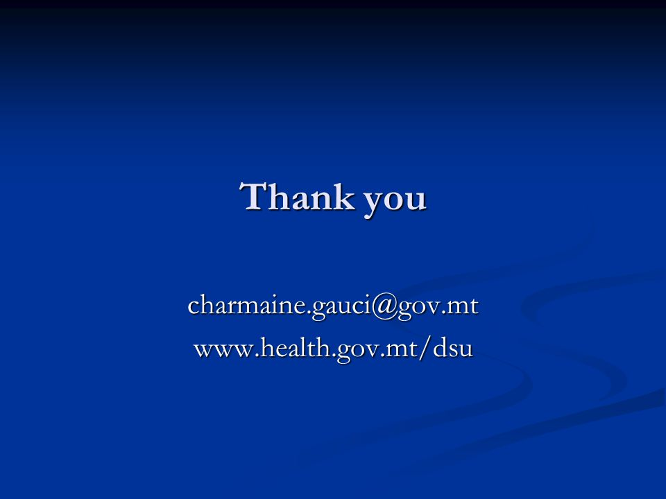 Thank you charmaine.gauci@gov.mtwww.health.gov.mt/dsu